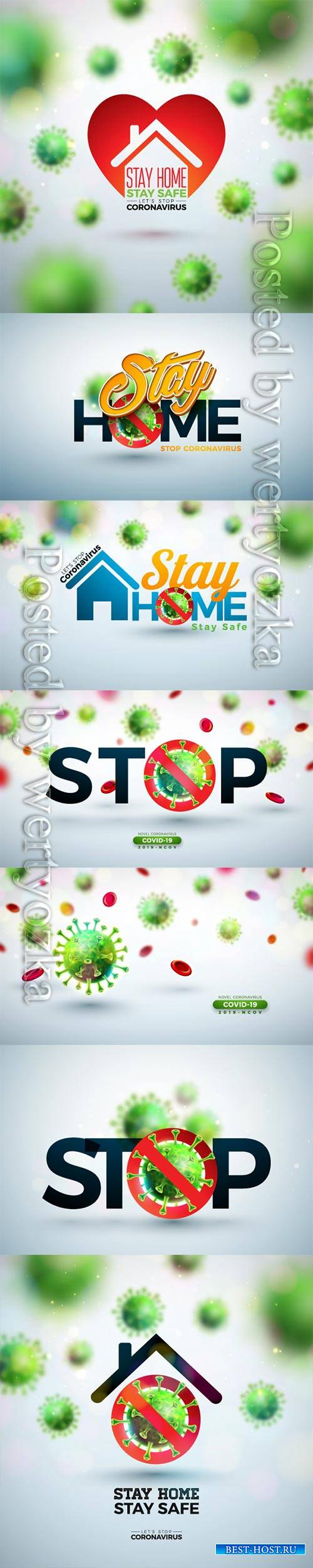 COVID 19, Coranavirus vector illustration sets # 4