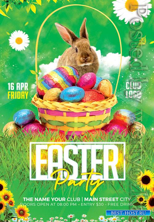 Easter party event - Premium flyer psd template