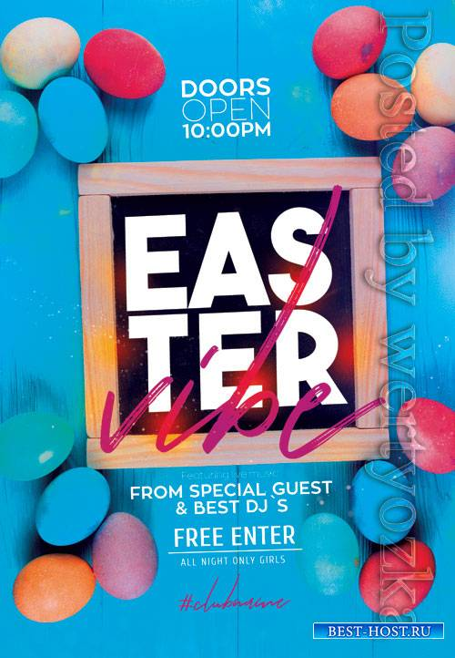 Easter vibe - Premium flyer psd template