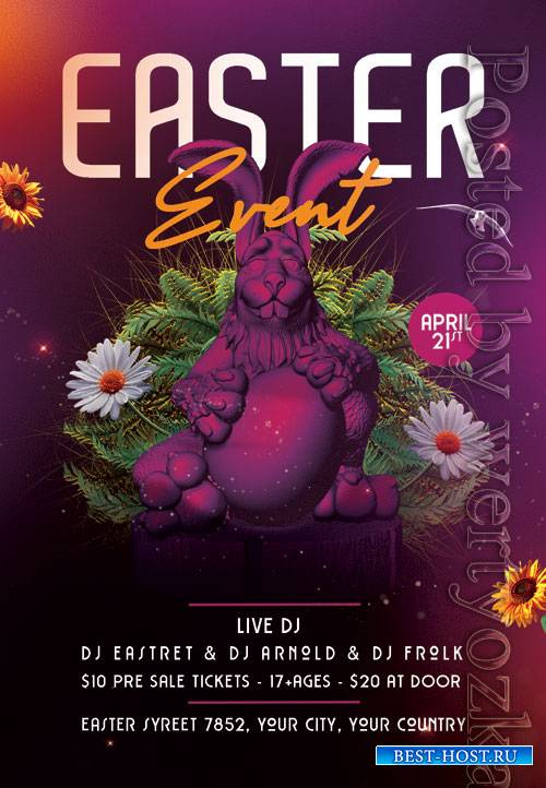 Easter event party - Premium flyer psd template