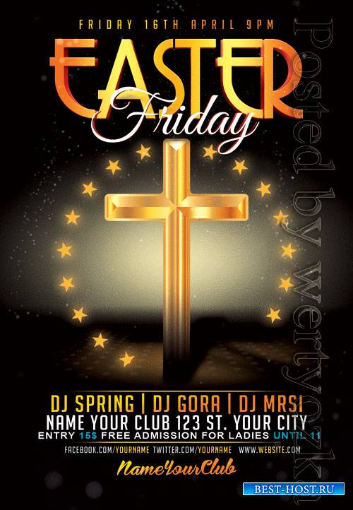 Easter friday - Premium flyer psd template