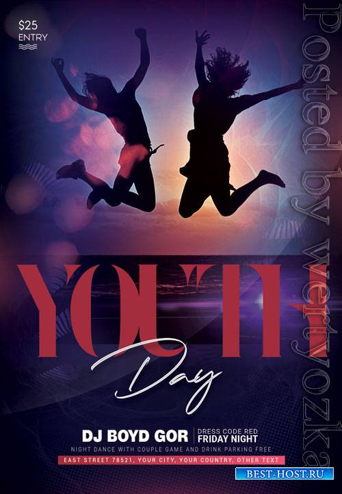 Youth day - Premium flyer psd template