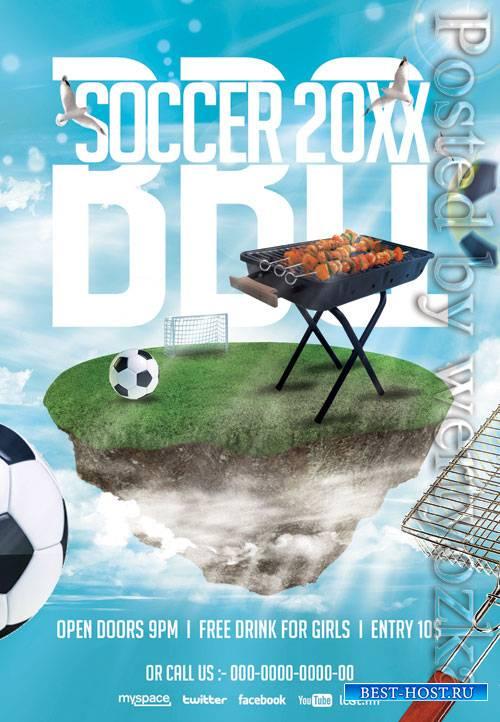 Soccer bbq - Premium flyer psd template