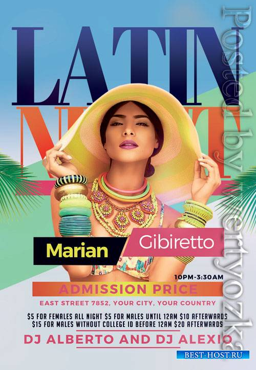 Latin night - Premium flyer psd template