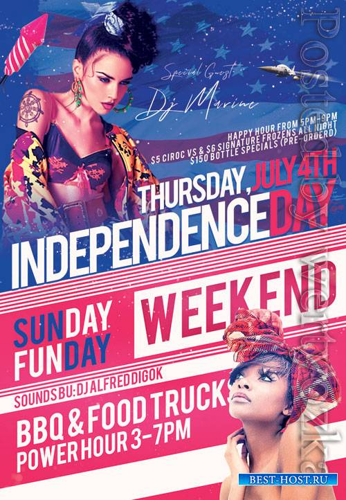 Independence day event - Premium flyer psd template