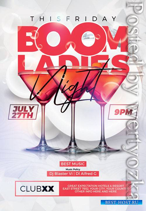 Boom ladies night - Premium flyer psd template