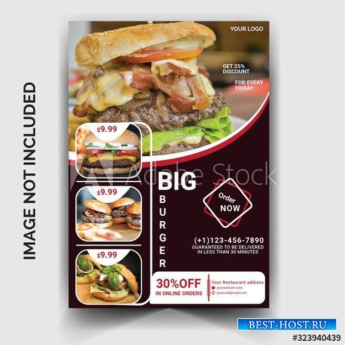 Restaurant burger flyer template