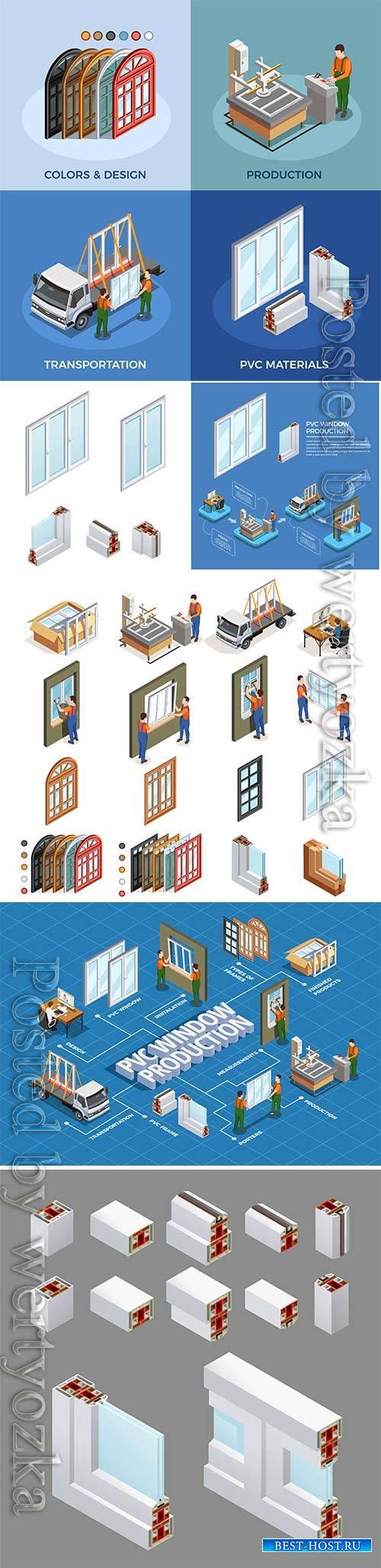 Pvc windows production and transportation