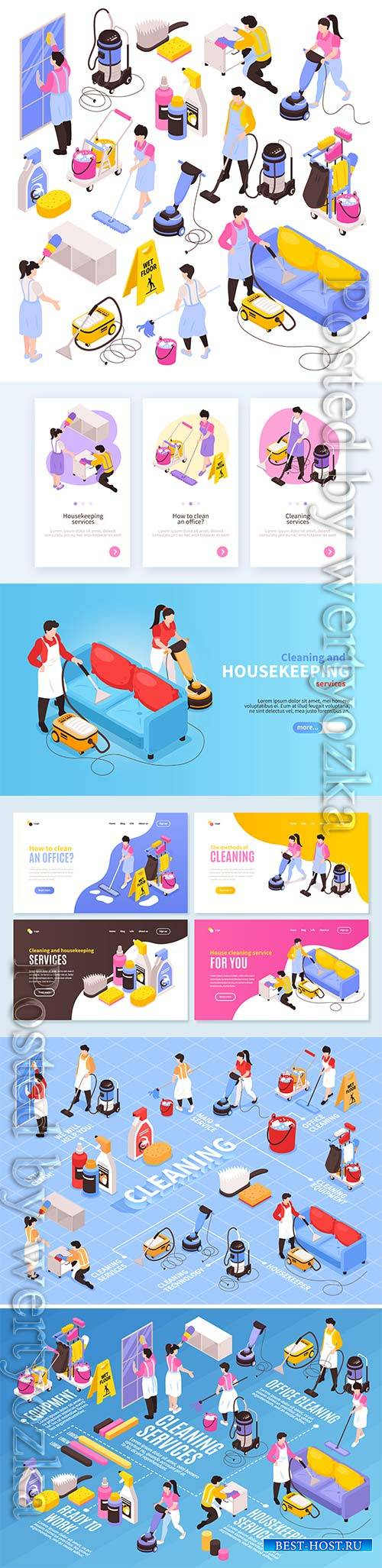 Isometric cleaning service