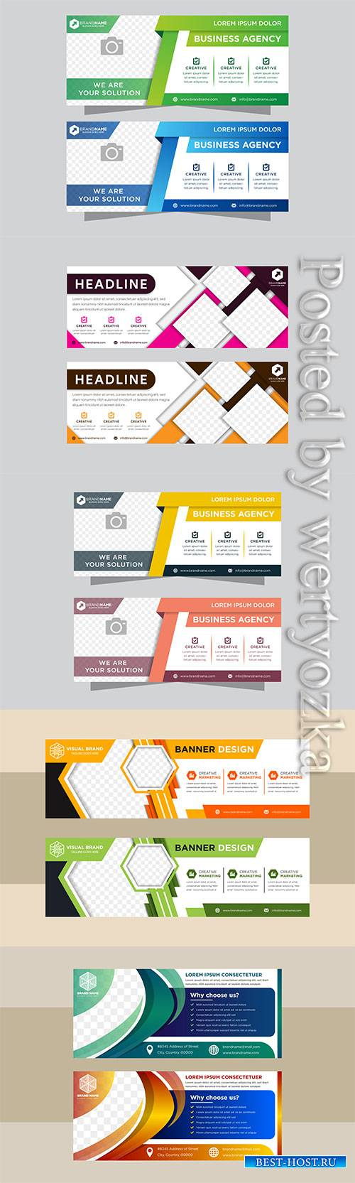 Abstract vector banner design web template