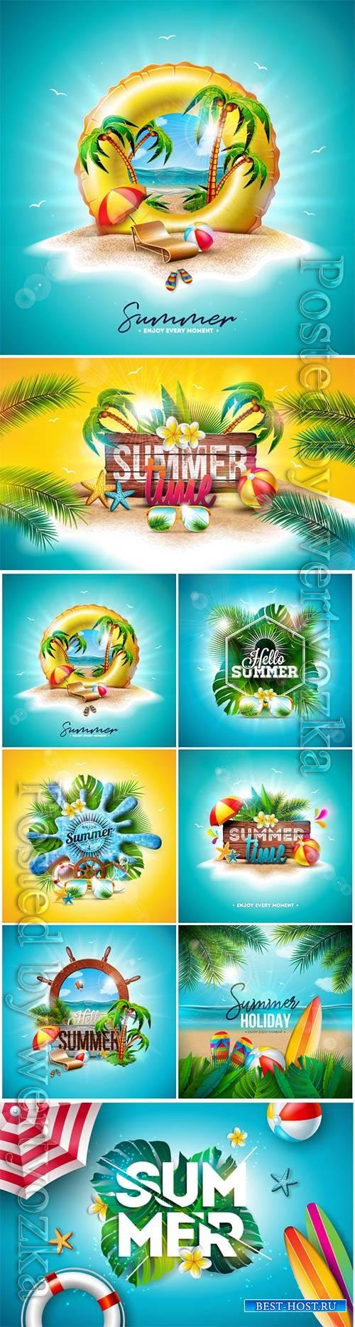 Vector summer time holiday vector illustration