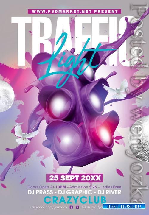 Traffic light event - Premium flyer psd template
