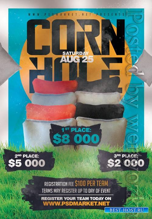 Cornhole championship - Premium flyer psd template