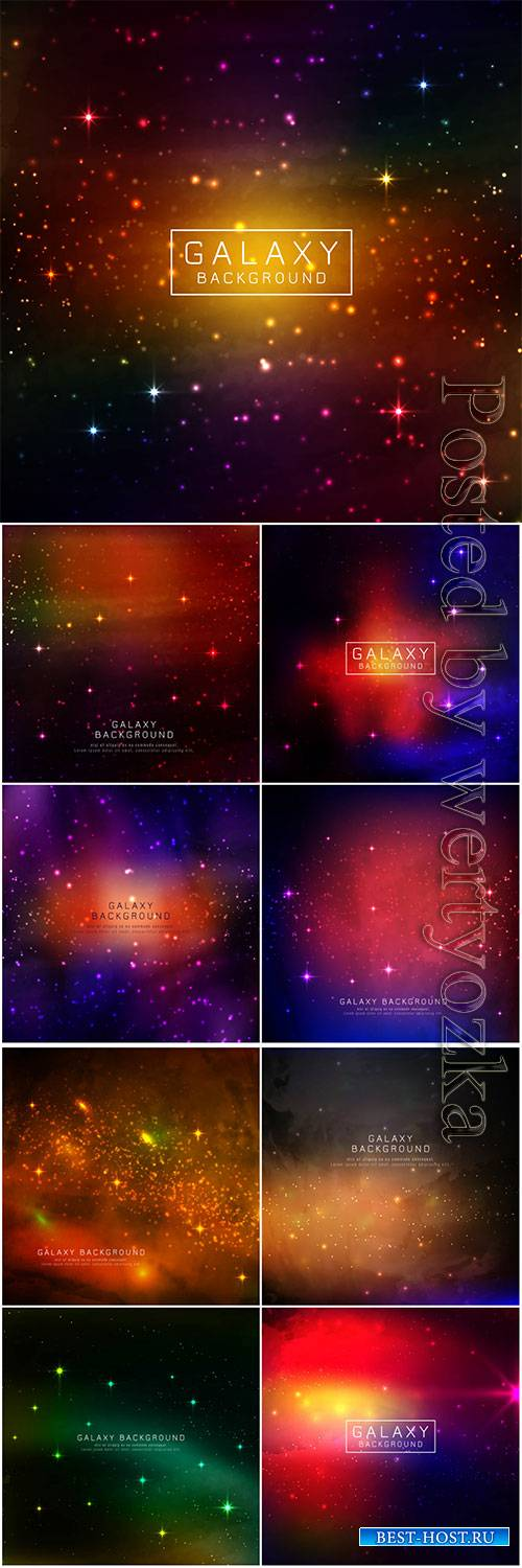 Abstarct modern galaxy vector background