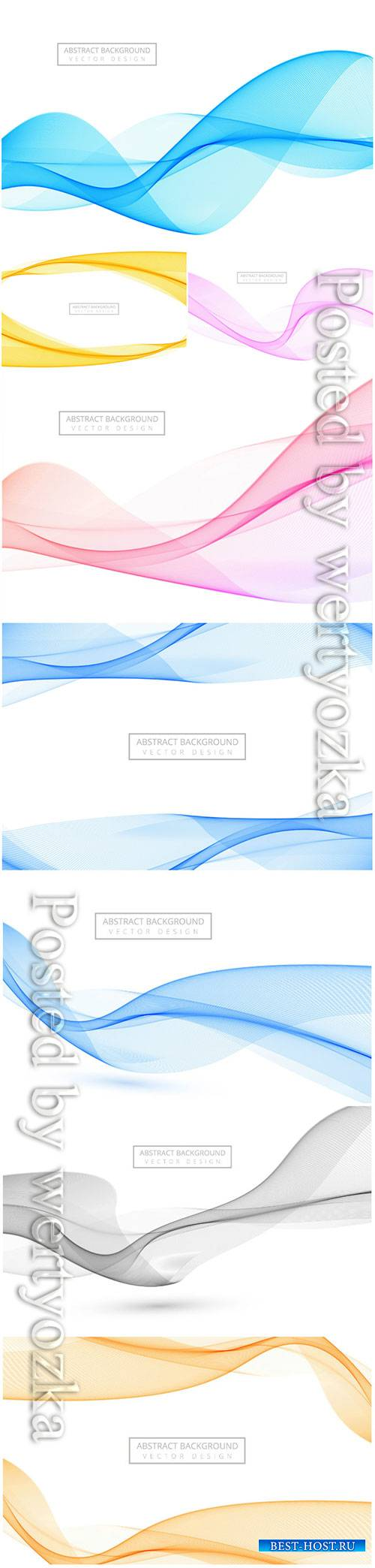 Abstract stylish vector wave background