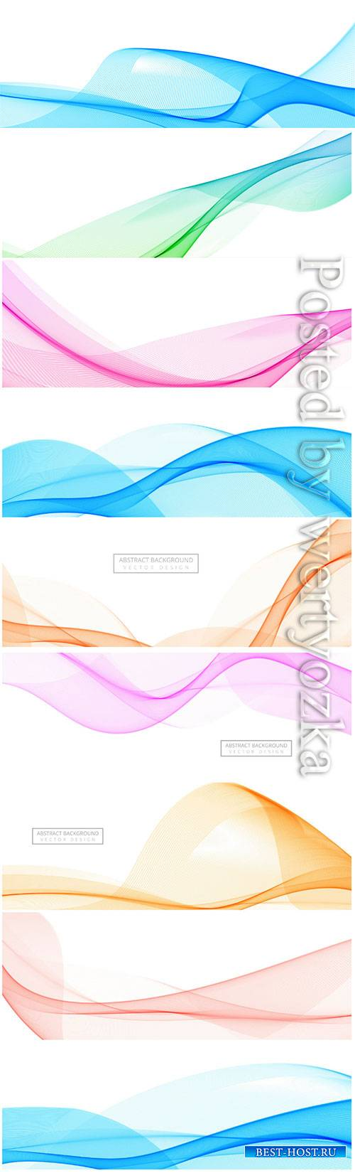 Modern flowing wave banner on white background
