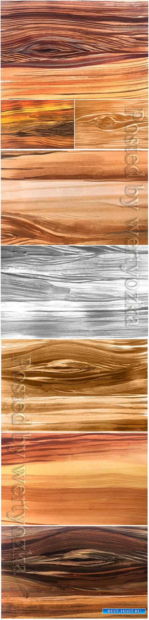 Natural wooden texture vector background
