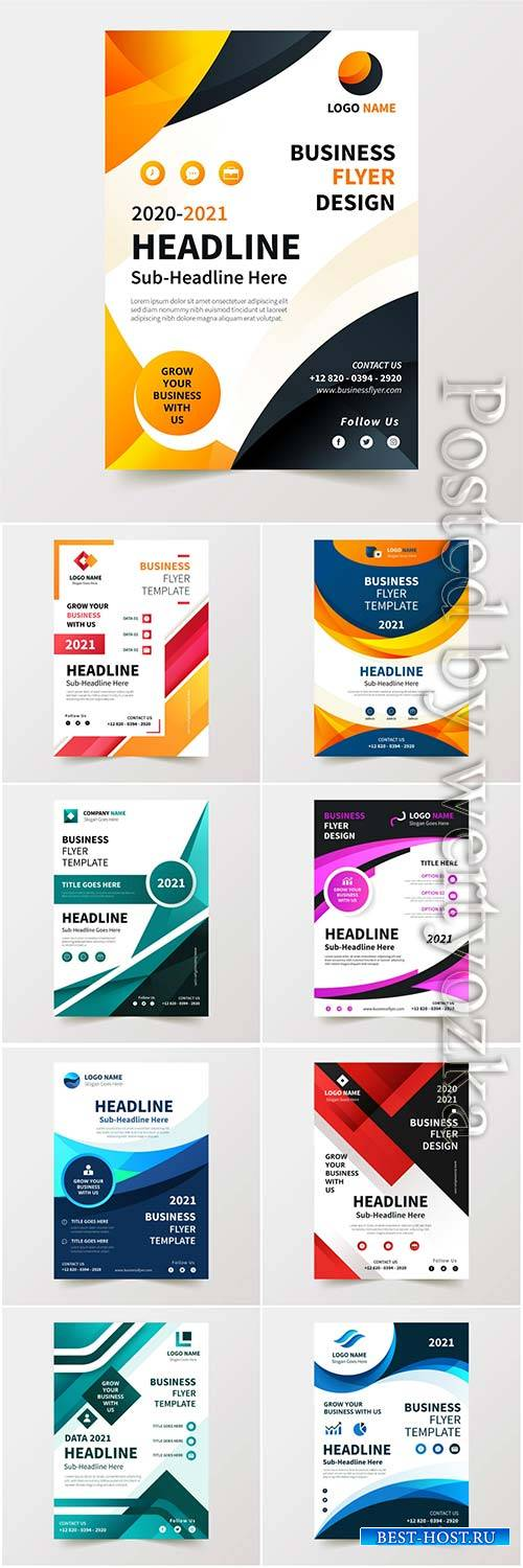 Business flyer template vector illustration