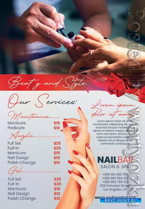 Nail salon - Premium flyer psd template