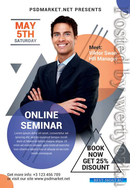 Online seminar - Premium flyer psd template