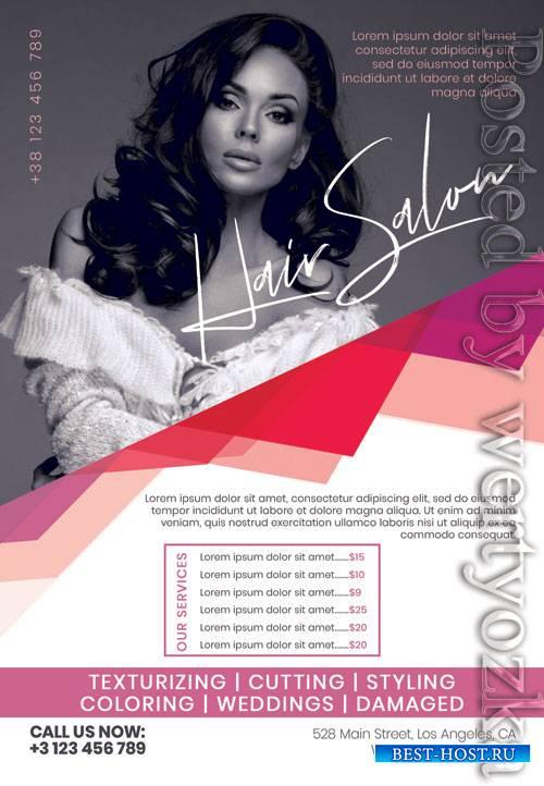 Hair salon - Premium flyer psd template