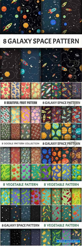 Beautiful seamless vector pattern # 3