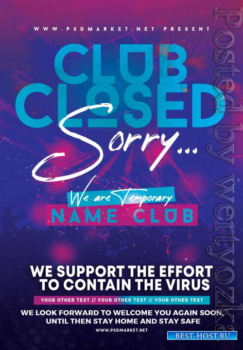 Club closed - Premium flyer psd template