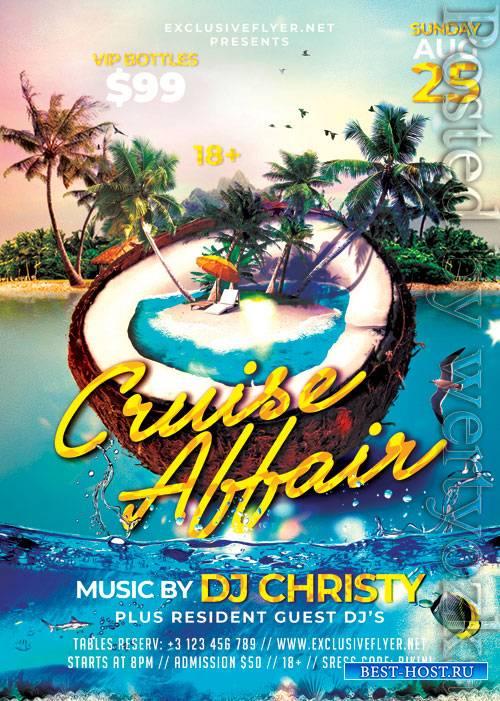 Cruise affair - Premium flyer psd template