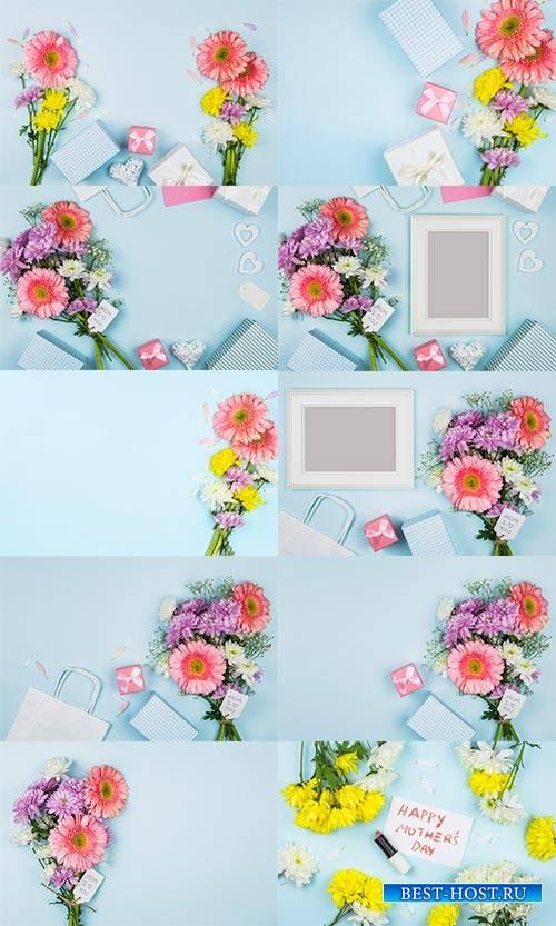 Цветочные фоны - Растровый клипарт