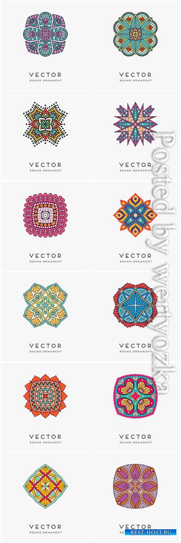 Decorative hand drawn mandala vector illustration