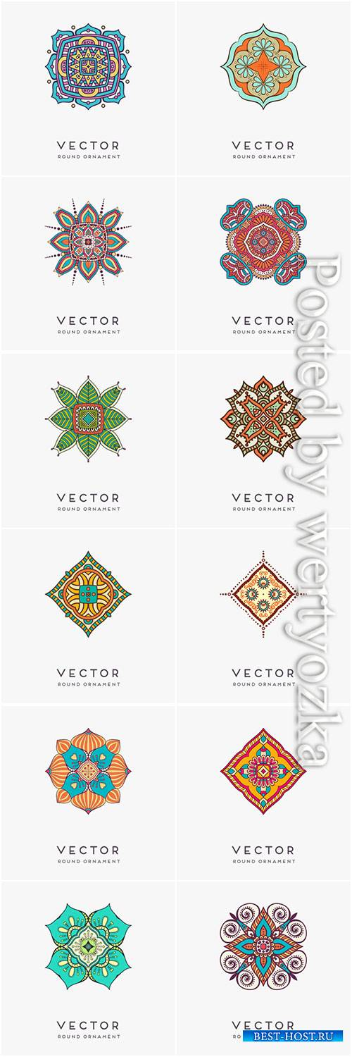 Decorative hand drawn mandala vector illustration # 5