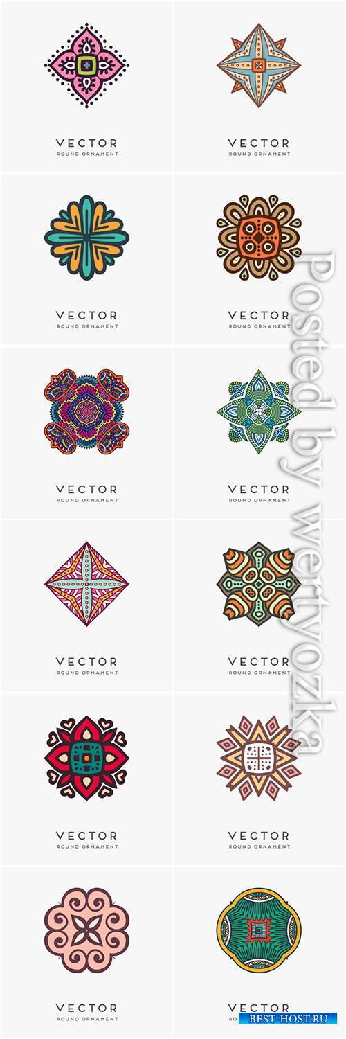 Decorative hand drawn mandala vector illustration # 7