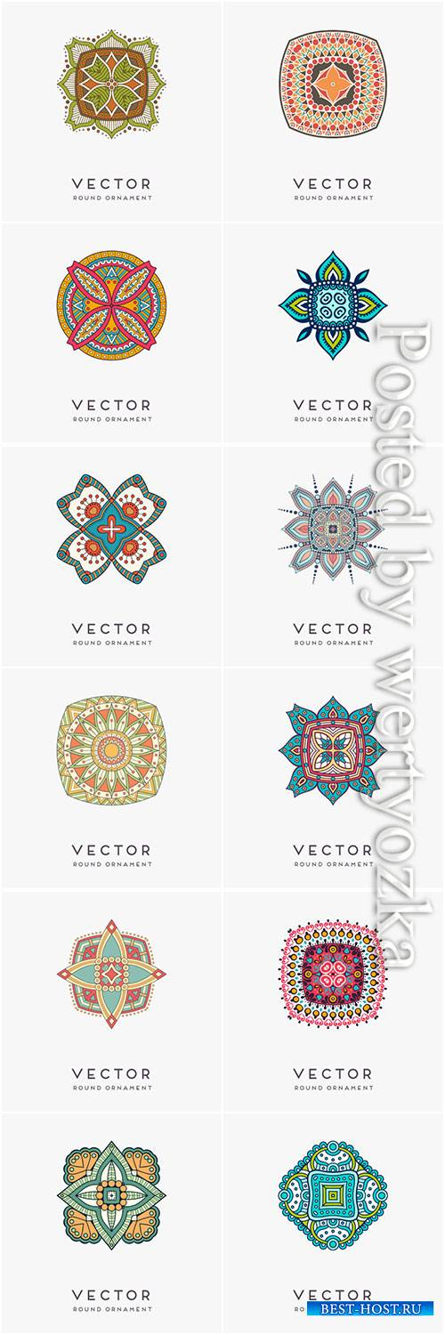 Decorative hand drawn mandala vector illustration # 4