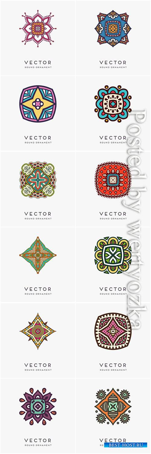 Decorative hand drawn mandala vector illustration # 6