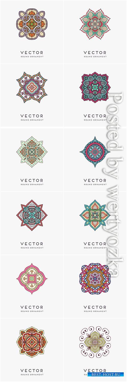 Decorative hand drawn mandala vector illustration # 13