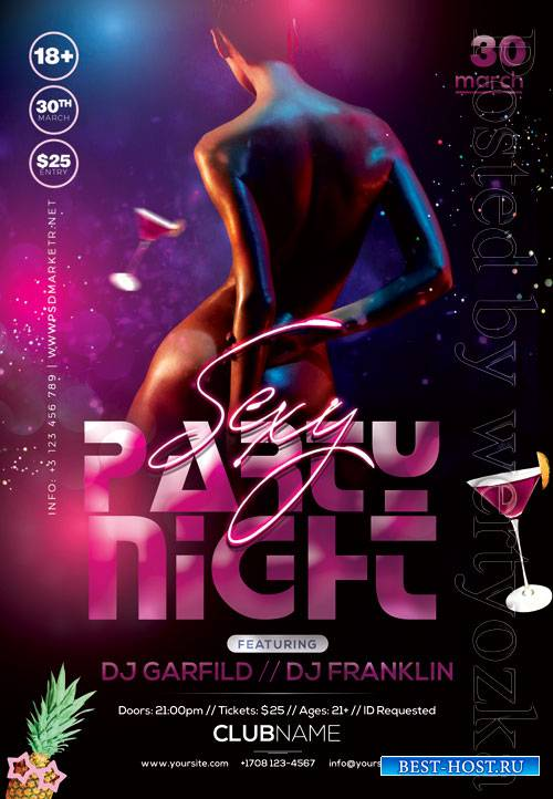 Sexy party night - Premium flyer psd template