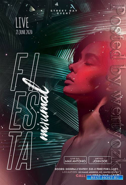 Tropical Concert - Premium flyer psd template
