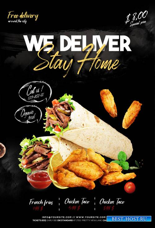 Home Delivery Food - Premium flyer psd template
