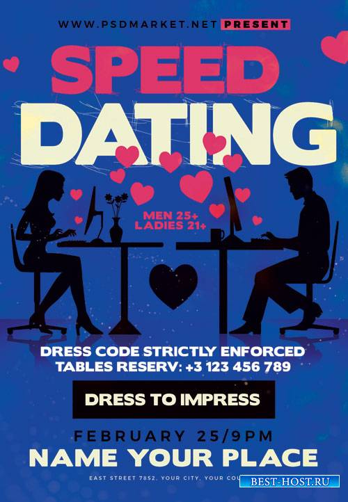 Speed dating - Premium flyer psd template