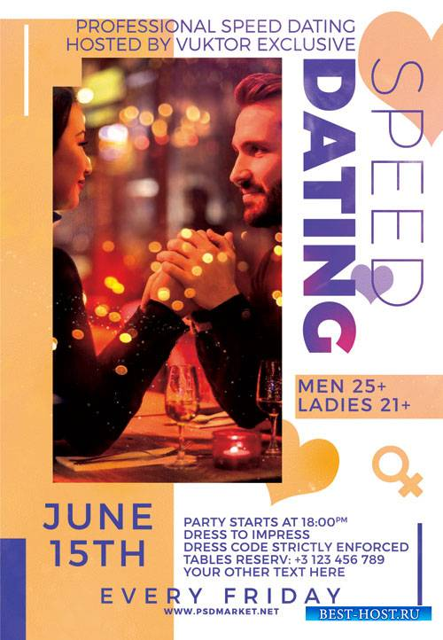 Speed dating night - Premium flyer psd template