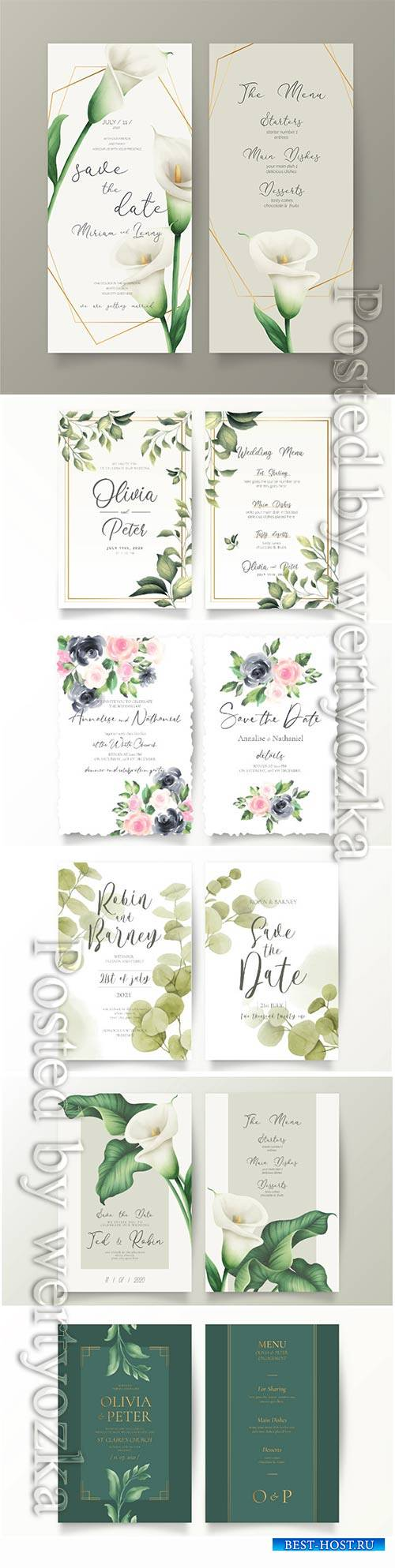 Elegant wedding vector card