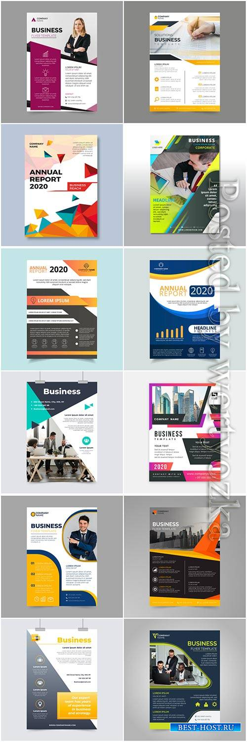Business flyer vector collection background