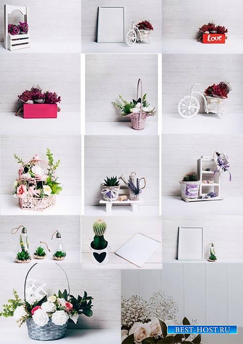 Фоны с цветами - Растровый клипарт