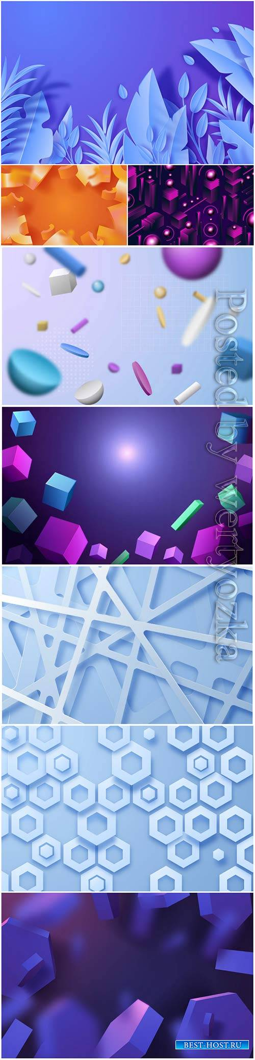 Abstract vector background, 3d models template # 4