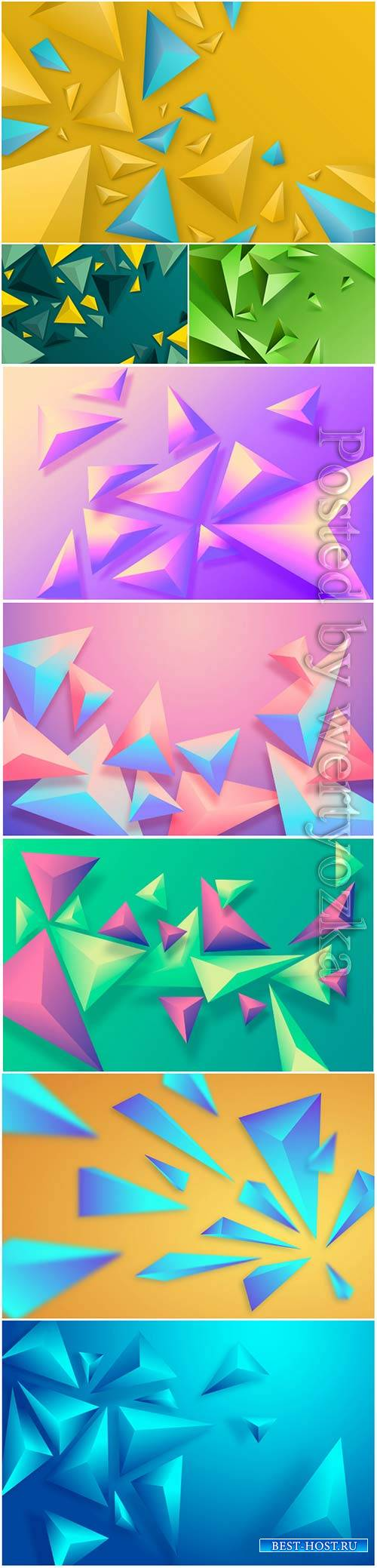 Abstract vector background, 3d models template # 3
