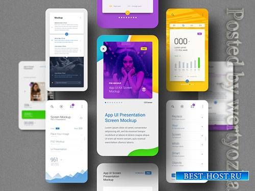 App Ui Screen Presentation Mockup