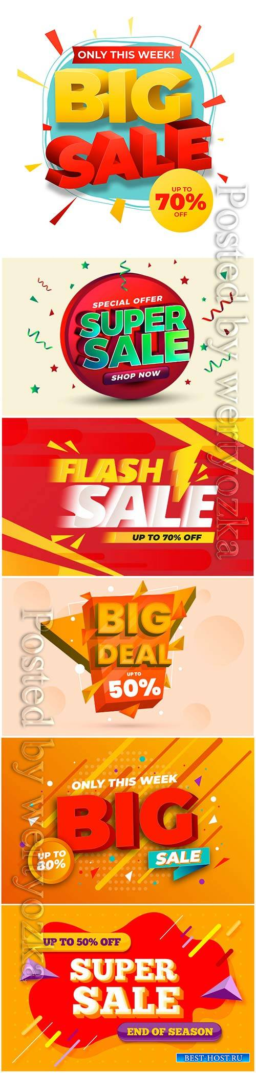Colorful 3d sales vector background # 4