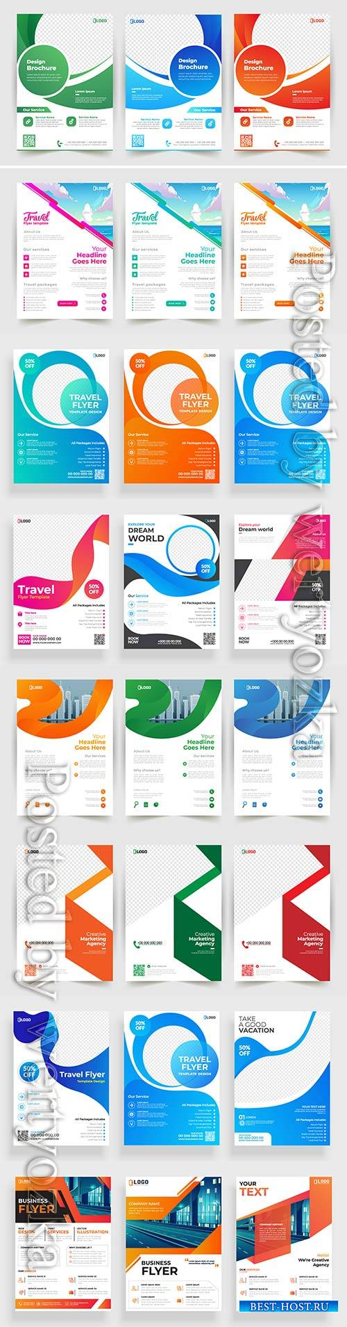 Business vector flyer template design