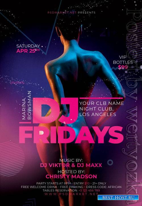 Dj fridays - Premium flyer psd template