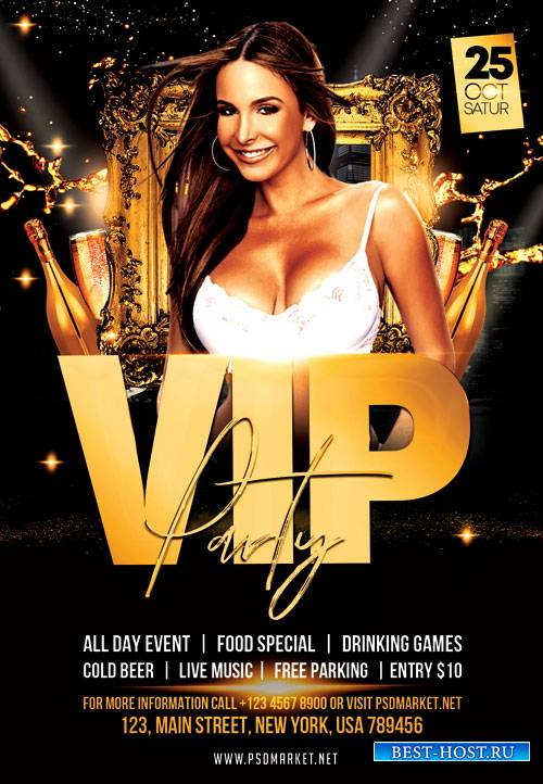 Vip party event - Premium flyer psd template